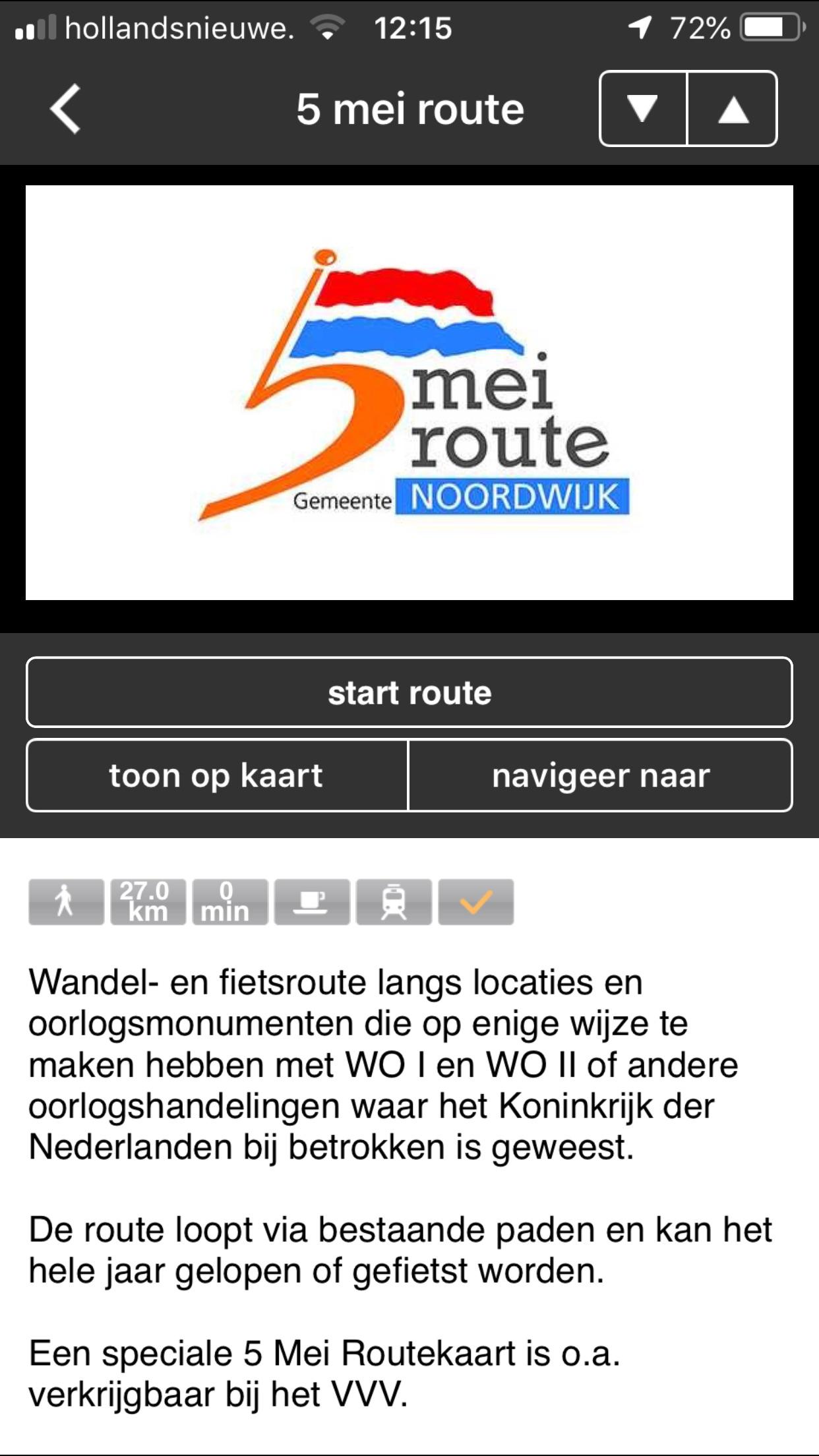 5 Mei Route Noordwijk zh