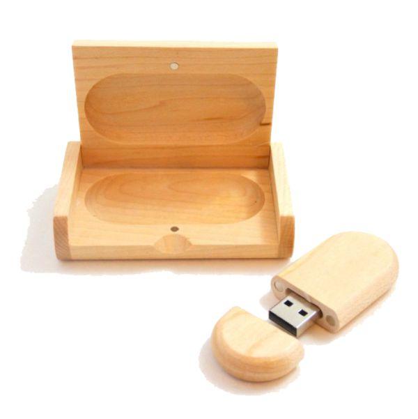 Houten USB-box